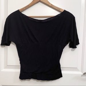 Empire Waist Dolman Sleeved Rouched Sides